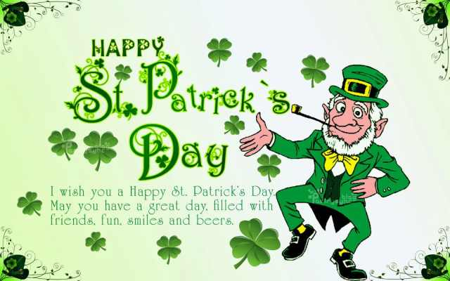 Happy st. Patrick's Day Sayings Quotes