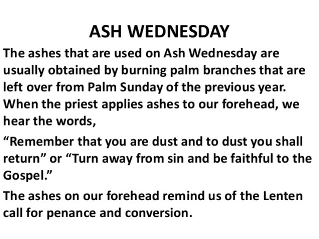 Ash Wednesday Poem Picture