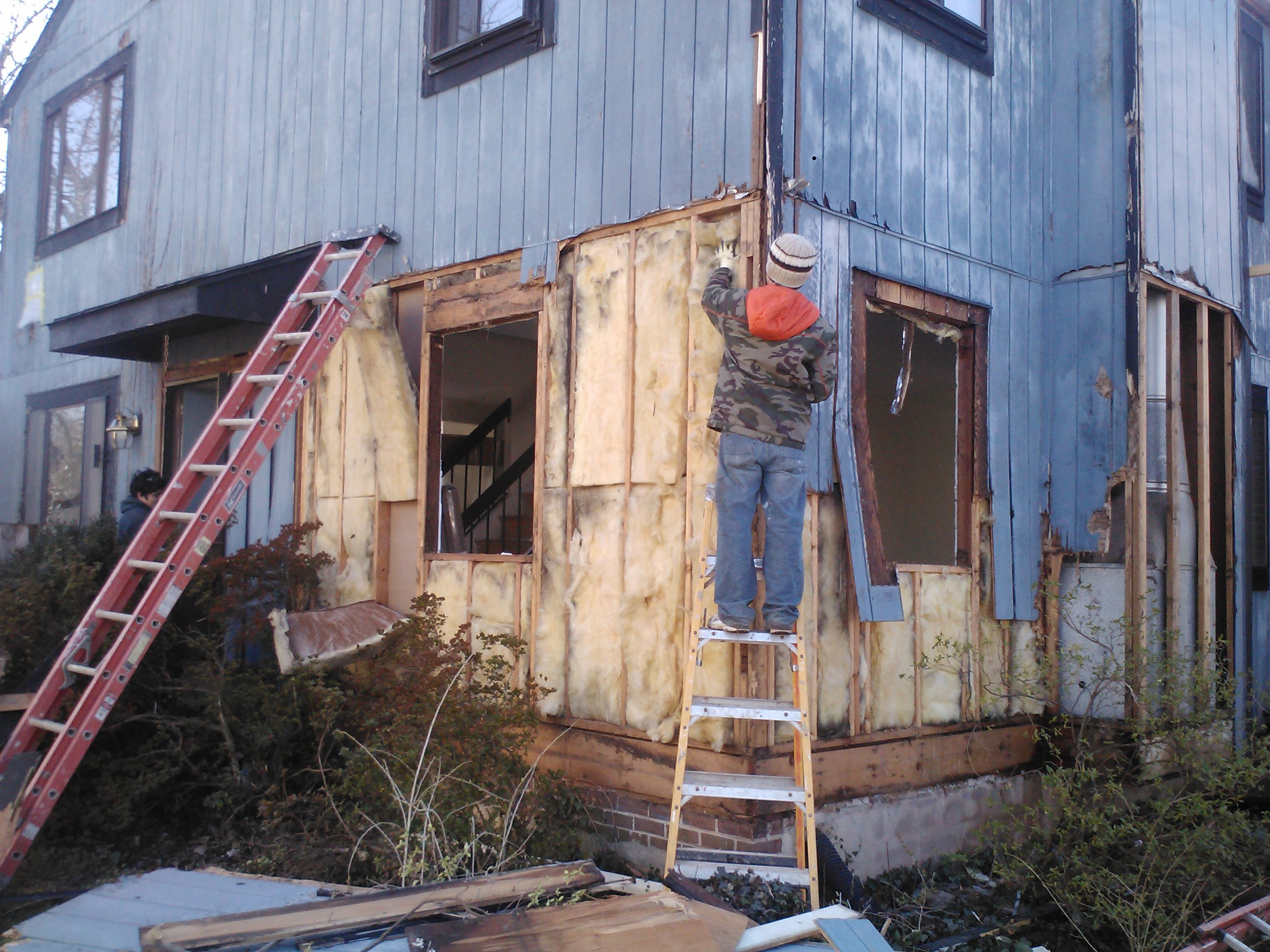 Gray After Ripping Out We Replaced Insulation Wherever Re Was Acavity Made It More Zip System Zip Sheathing Optimal Enclosures T1 11 Siding On House T1 11 Siding Price houzz-03 T1 11 Siding