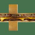 V-CUBE 2 Pillowed - Burger Print