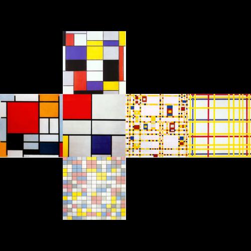 V-CUBE 3 Flat - Mondrian Print