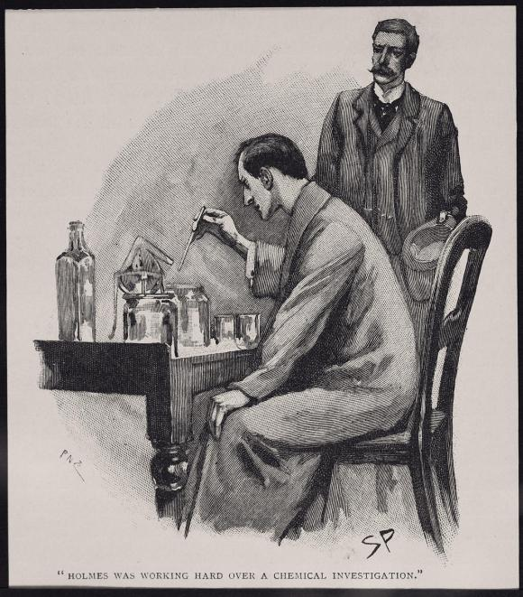 One of the original illustrations from a Sherlock Holmes story.