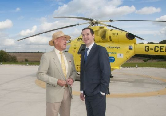 George Osborne Helicopter