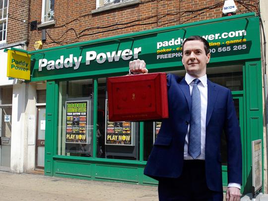 George Osbourne Paddy Power