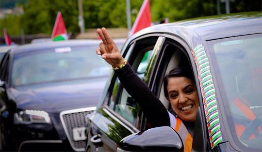Naz Shah Gaza Convoy