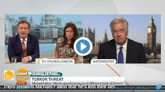 FALLON WELCHES ON £1,000 PIERS MORGAN BET