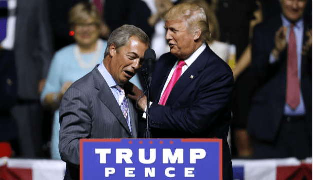 "FARAGE TO TRUMP ""I COME TO YOU WITH A MESSAGE OF HOPE AND OPTIMISM"""