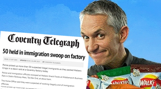 Walkers Factory Was Raided For Illegal Immigrants