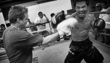Manny Pacquiao training