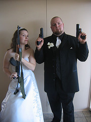 shotgun wedding photo