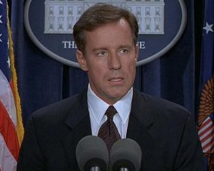 Phil Hartman as The President in The Second Civil War - 3.5/4