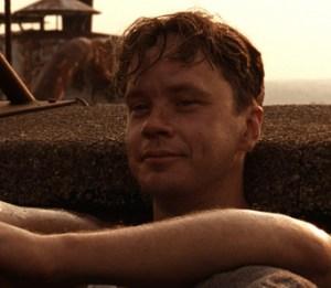 "Tim Robbins as Andy Dufresne in ""Shawshank Redemption"""