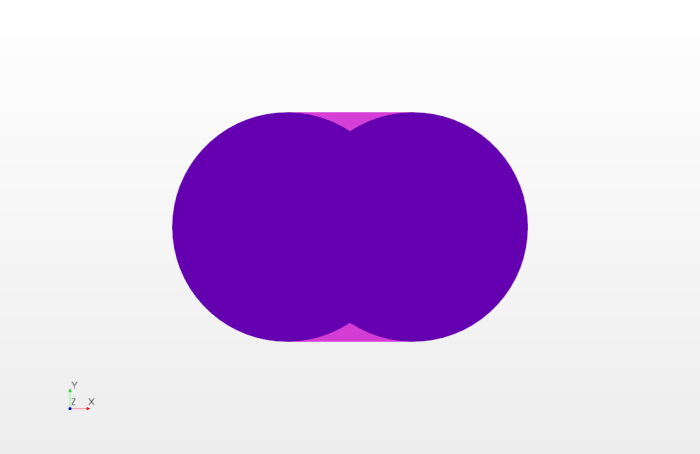 Not really stretched, just two semi-circles connected at the horizontal tangent.