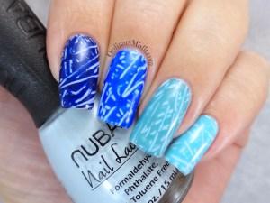 Scribbled nail art