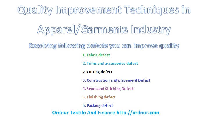 Quality Improvement Techniques in Apparel Industry