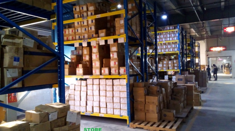 Goods in warehouse in Garments