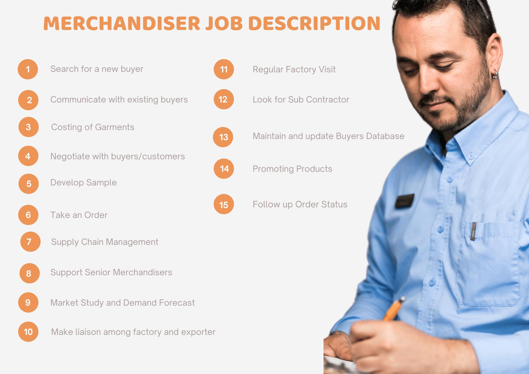 trainee merchandiser job description