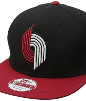 NBA-Portland-Trail-Blazers-Hardwood-Classics-2Tone-Basic-9FIFTY-Snapback-Cap-One-Size-BlackRed-0