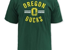 NCAA-Oregon-Ducks-Mens-Pro-Weight-Short-Sleeve-College-Logo-Tee-DK-Green-Medium-0