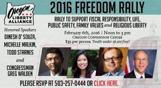 2016 Freedom Rally flyer