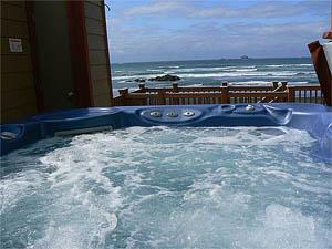 Hot Tub at Oregon Coast Vacation Rentals