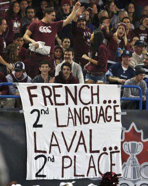 Le français à la coupe Vanier