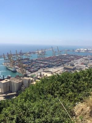Conteneurs, port de Barcelone, juillet 2015