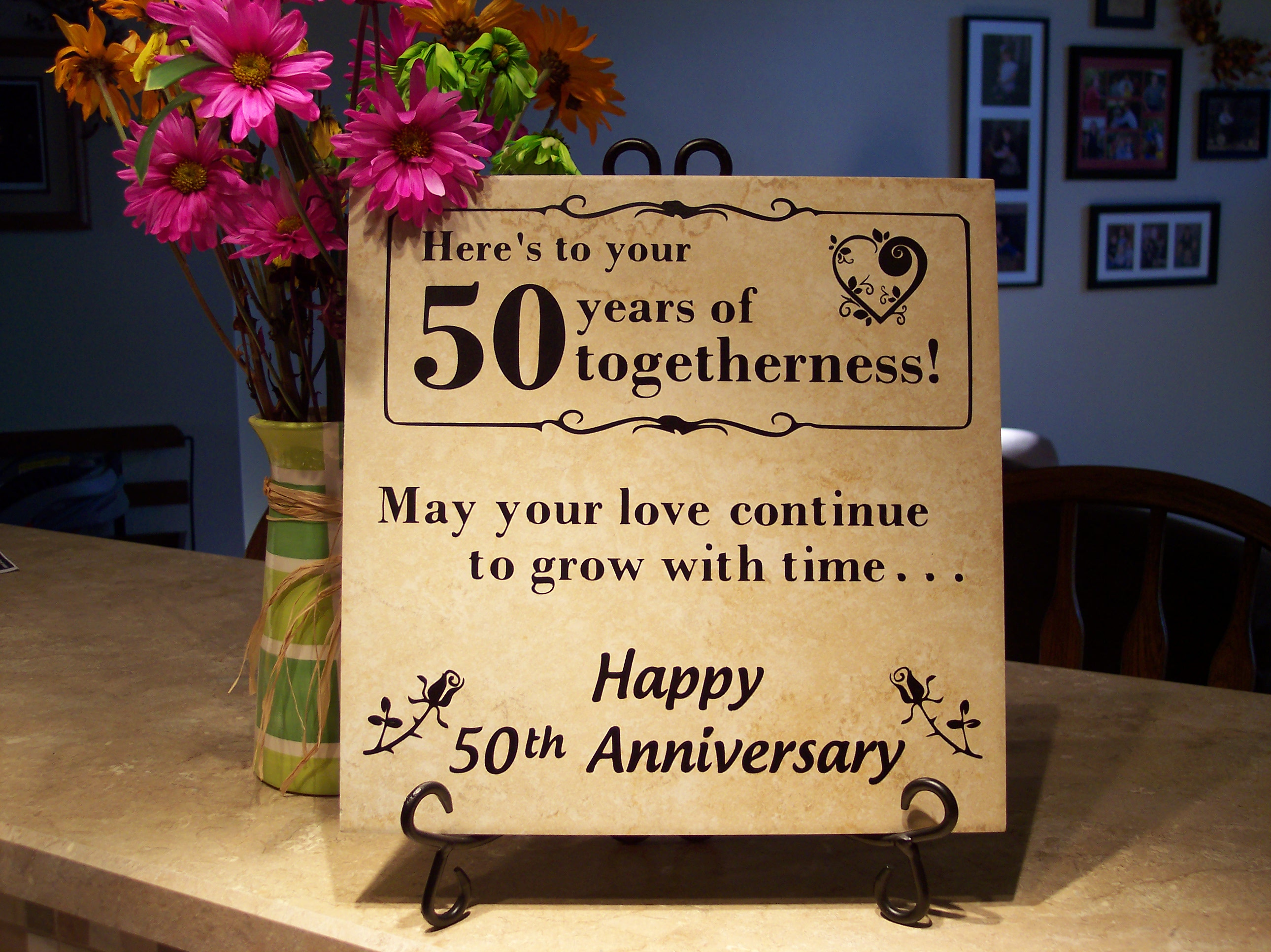 Engaging Wife 50th Anniversary Gift Ideas Anniversary Personalized Anniversary Gift Tiles 50th Anniversary Gift Ideas A Couple ideas 50th Anniversary Gift Ideas