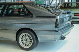 A traseira do papa-rallye - Audi Quattro