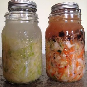 see how @bebhjen (on Instagram) has the small jar inside the big one to push the kraut down under the brine?