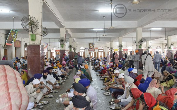 organic food at the golden temple