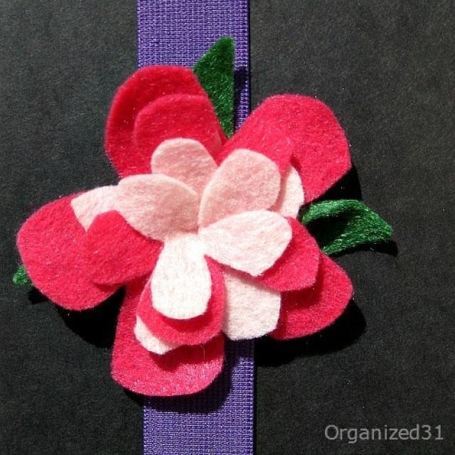 Organized 31 - Floral Book Hugger Bookmark