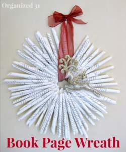 Organized 31 - Book Page Wreath