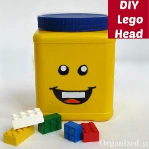 DIY Repurposed Can Lego Head - Organized 31