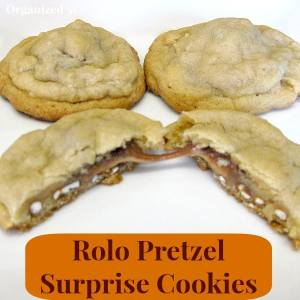 Rolo Pretzel Surprise Cookies