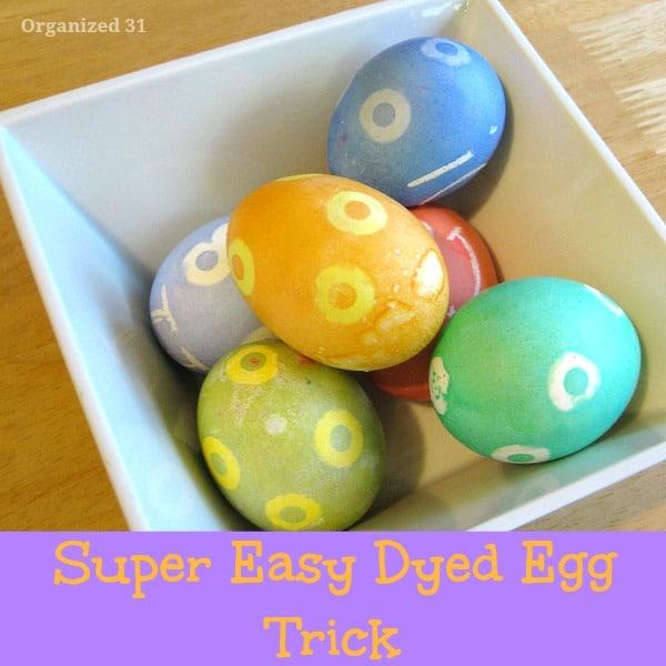 Easy Dyed Easter Egg Design - Organized 31