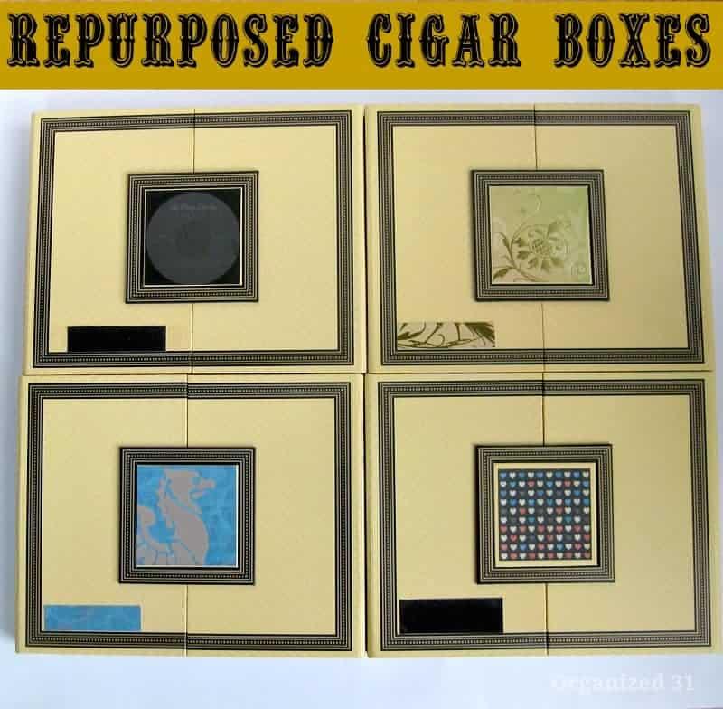 Repurposed Cigar Boxes -Organized 31