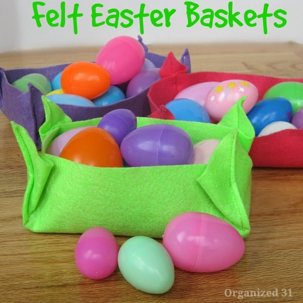 Last Minute Felt Easter Basket - Organized 31