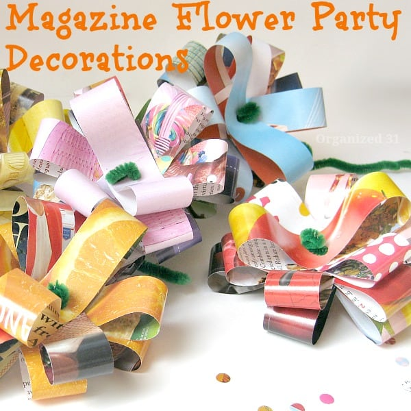 Easy Magazine Flowers for Party Decorations- Organized 31