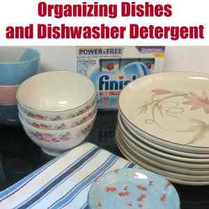 Organizing Dishes & Dishwasher Detergent - Organized 31 #SparklySavings #CollectiveBias #shop
