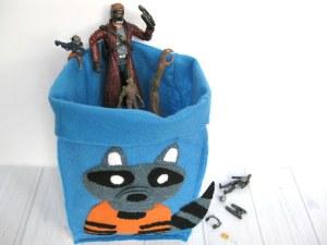 DIY Rocket Racoon Gift Bag & Organizing Bin - Organized 31 #OwntheGalaxy #Ad