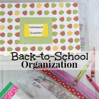 Free Back-to-School Organization
