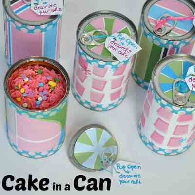 Cake in a Can Surprise