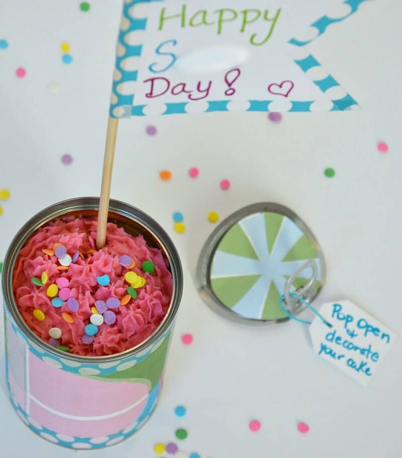 Make this cake in a can surprise as a fun treat.