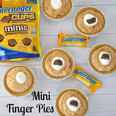 Mini Finger Pies with Butterfinger Candy