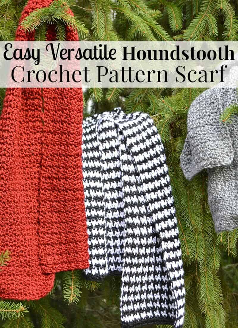 Easy Houndstooth Crochet Pattern Scarf