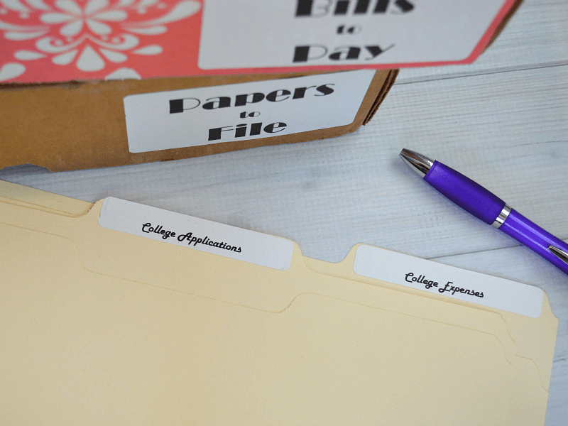 Easy and inexpensive tips on How to Organize Tax Paperwork for home and small businesses #DymoandDone [ad]