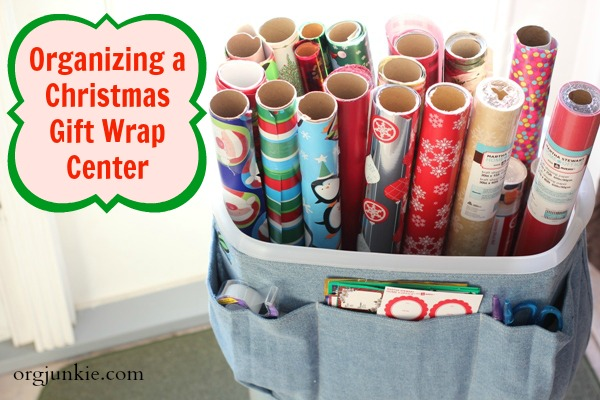 New & Improved Gift Wrap Center- OrgJunkie.com