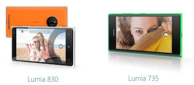 lumia 830 lumia 735 1