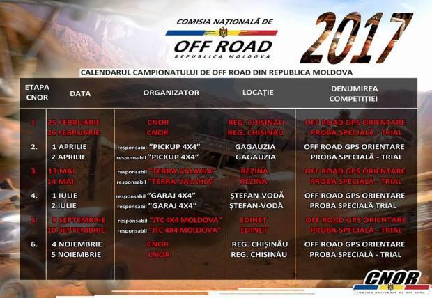 calendar campionat off road 2017